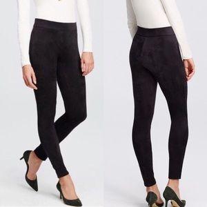 NWT! ANN TAYLOR Faux Suede Black Leggings. Size XS